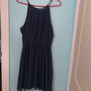 Francesca's Navy blue dress